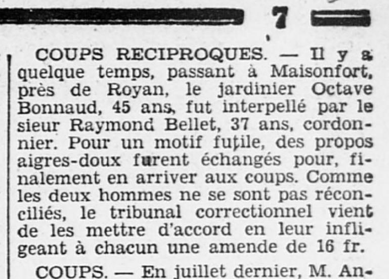 Extrait de l'Ouest Eclair (02/09/1929)