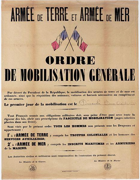 Affiche de mobilisation de l'armée