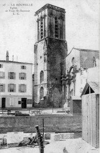 Carte postale ancienne - La Rochelle - église Saint-Sauveur