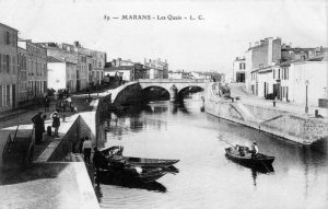 Carte postale ancienne - Les quais de Marans (17230)