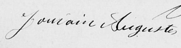 Signature d'Auguste JOURDAIN, en 1902