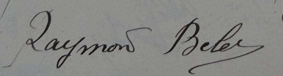 Signature de Raymond BELET (1922)